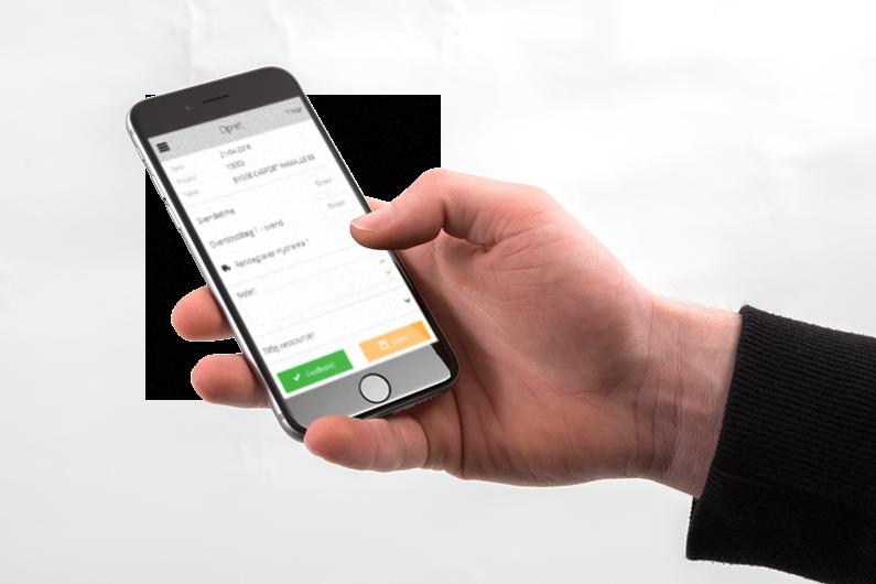Timeregistrering via mobilen