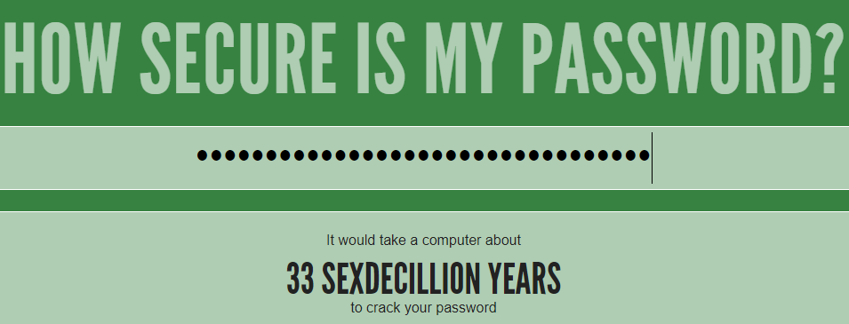hvor sikkert et dit password