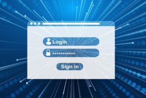 Login forside med password til at signe ind