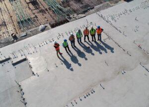 byggeplads set fra oven